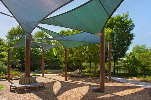 Children's Shade System Installed at Lewis Ginter Botanical Gardens