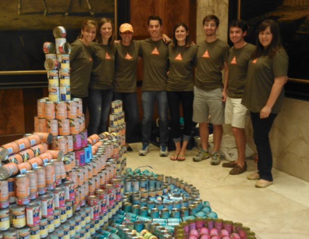 3north donates to Virginia Central Food Bank in RVA's CANstruction [and wins an Honorable Mention]