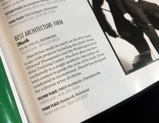 3north Named Best Architecture Firm in Virginia Living, 2nd year in a row