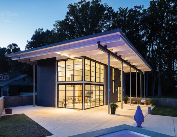 Contemporary River House Project Featured in Virginia Living's 2019 House+Garden Issue