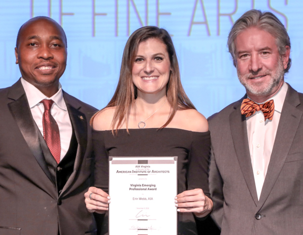 Erin Webb Honored the AIA Virginia Emerging Professional Award