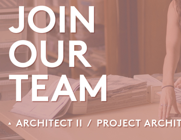 Architect II/Project Architect Position Open